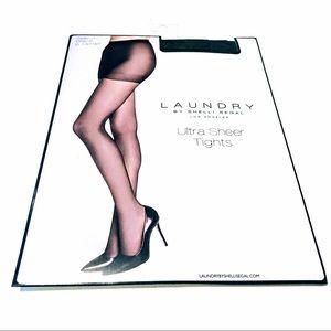 LAUNDRY by Shelli Segal LUXURY SHEER TIGHTS 20 denier black pantyhose
